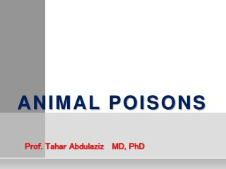 Animal Poisons