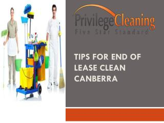 Tips for end of lease clean Canberra