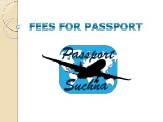 Passport fees in India