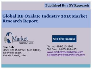 Global RE Oxalate Industry 2015 Market Analysis Survey Resea
