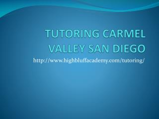 TUTORING CARMEL VALLEY SAN DIEGO