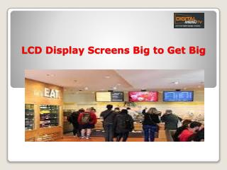LCD Display Screens in Boston