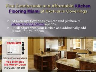 Affordable Kitchen Flooring Miami at Exclusive Coverings