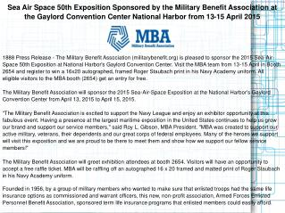 Sea Air Space 50th Exposition Sponsored by the Military
