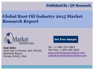 Global Rust Oil Industry 2015 Market Analysis Survey Researc