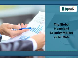 Threats Of The Global Homeland Security Market 2012–2022