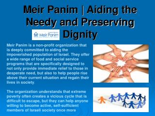Meir Panim | Creating Brighter Futures