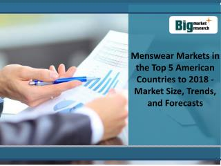 Menswear Markets in the Top 5 American Countries to 2018