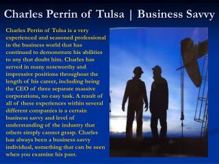 4.Charles Perrin of Tulsa   Organization is Key