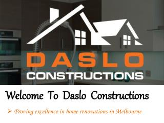 Bathroom Renovations in Melbourne - Daslo Constructions