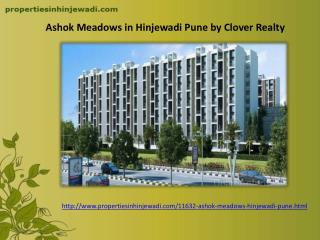 Apartments in Ashok Meadows Hinjewadi Pune by Clover Realty