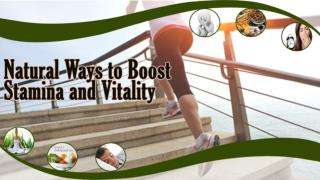 Natural Stamina Booster Supplements to Increase Vitality
