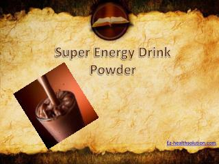 Where to shop for Chocolate Flavor Super Energy Drink Powder