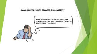 Available Services in Catering Coventry
