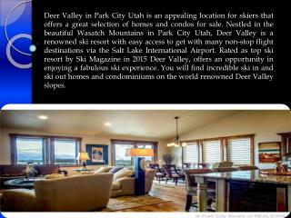 Great Selection of Homes for Sale in Deer Valley
