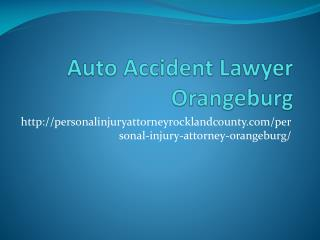 AUTO ACCIDENT LAWYER Orangeburg