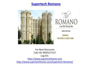 Supertech Romano Noida real estate project