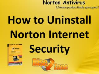How to Uninstall Norton Internet Security