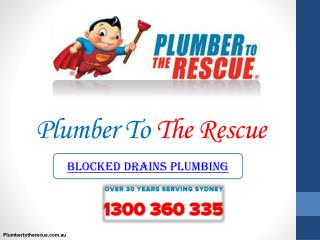 Blocked Drains Plumbing in Sydney