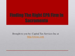 Finding The Right CPA Firm In Sacramento