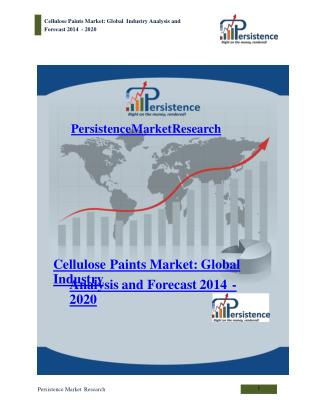 Cellulose Paints Market - Global Industry Analysis to 2020