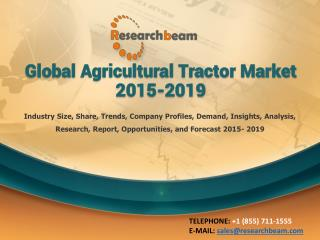 Global Agricultural Tractor Market 2015-2019