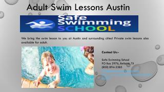 Adult Swim Lessons Austin