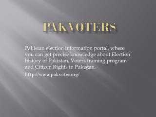 Pakistan Election Information Portal