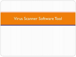 Virus Scanner Software Tool