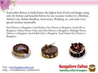 Send Cakes to Bangalore
