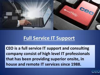 Full service IT support and consulting company