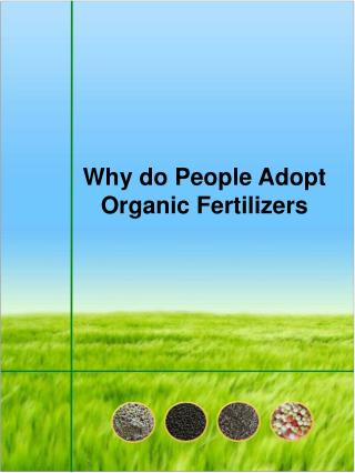 Why do People Adopt Organic Fertilizers
