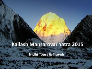 Kailash Mansarovar Yatra 26 May 2015