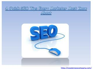 4 Quick SEO Tips Every Marketer Must Know About