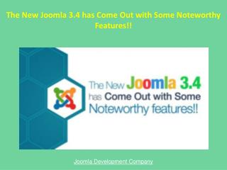 Joomla 3.4 New Features