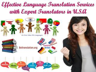 Effective Language Translation Services