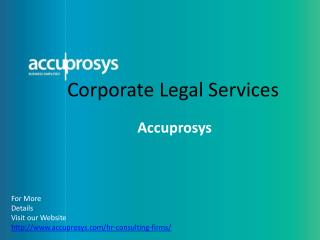 Corporate Legal Services in Hyderabad - Accuprosys