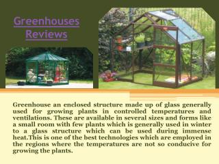 Greenhouse Reviews