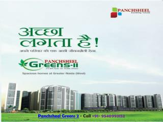 Panchsheel Greens 2 Noida Booking Start in New Tower