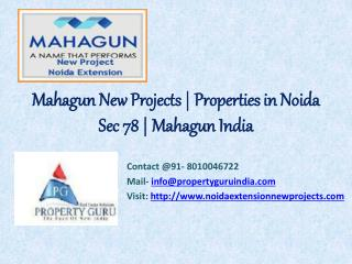 Mahagun New Projects | Properties in Noida Sec 78 - 80100467
