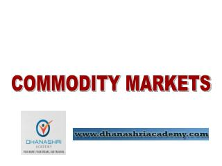 Why Invest in Commodity Markets?