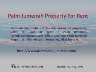 Palm Jumeriah Villas for Sale & Rent in Dubai