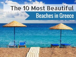 Most Beautiful Beaches in Greece