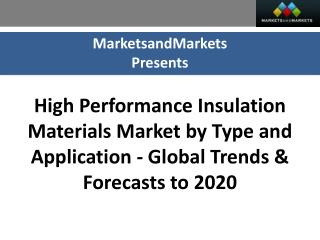 High Performance Insulation Materials Market worth $6,000 Mi
