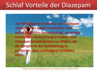 Diazepam Tabletten Online
