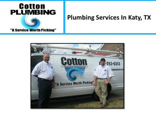 Plumbing Services In Katy, TX