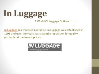 In Luggage