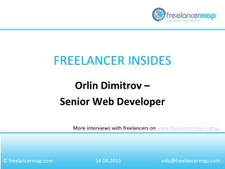 Orlin Dimitrov - Senior Web Developer