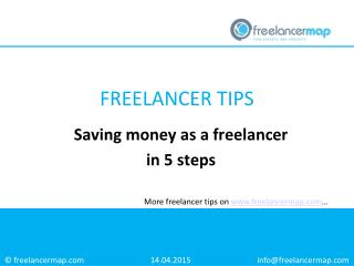 Saving Money as a Freelancer in 5 Steps