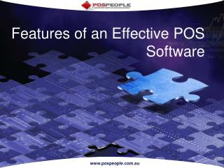 Features of an Effective POS Software
